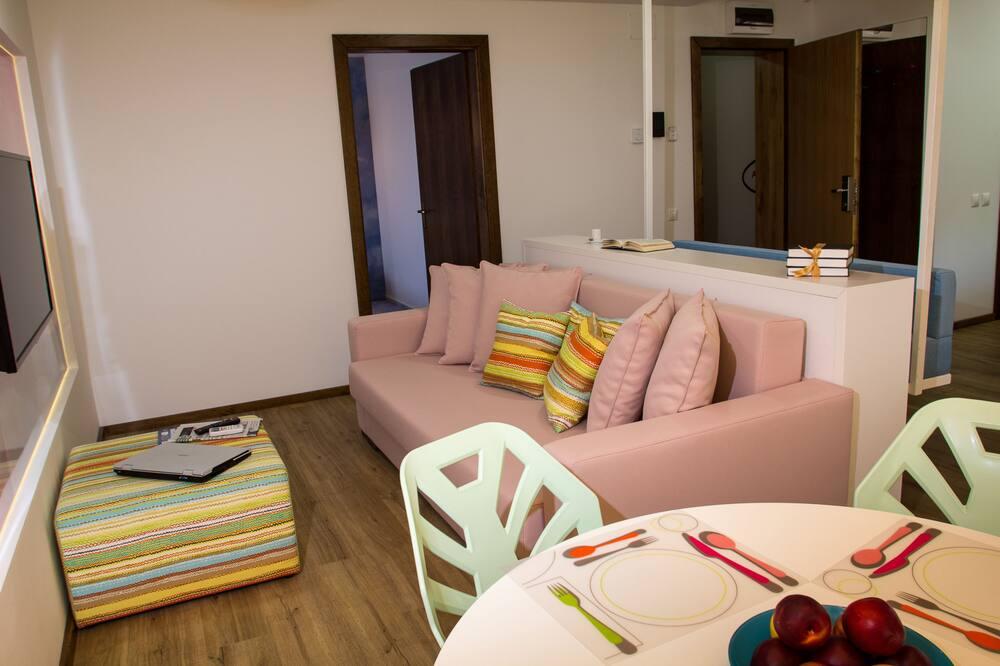 Apartamento Confort, 1 habitación, balcón - Sala de estar