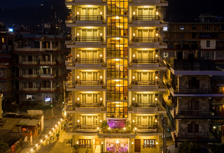 Hotel White Pearl, Pokhara, Hotel Front