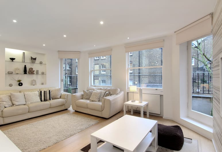 London Lifestyle Apartments Chelsea, London, Superior külaliskorter, 2 magamistoaga (Culford Gardens), Elutuba