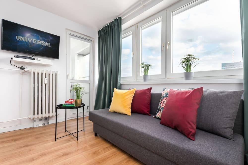 Departamento Premium, balcón, vista a la ciudad - Sala de estar