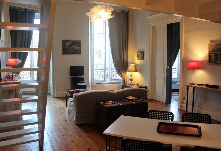 L'Appart Clemenceau 1, Bordeaux, Appartement Ville, non-fumeurs, Coin séjour