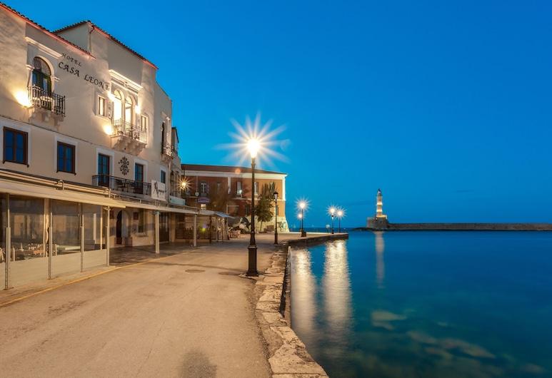 Casa Leone Hotel, Chania, Hotel Front – Evening/Night