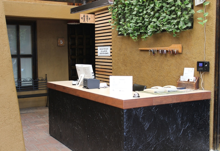 Hotel Rustiko, Oahaka, Ieejas interjers