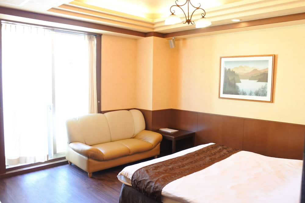 豪華雙人房, 1 張加大雙人床, 三溫暖 - 客廳