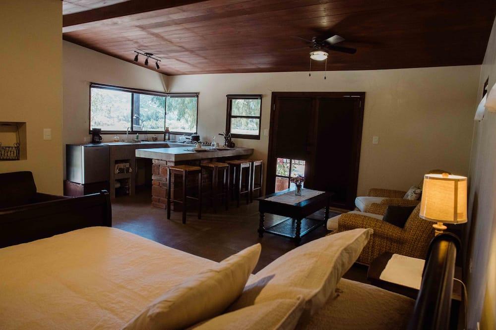 Cabana de Madeira Deluxe - Sala de Estar