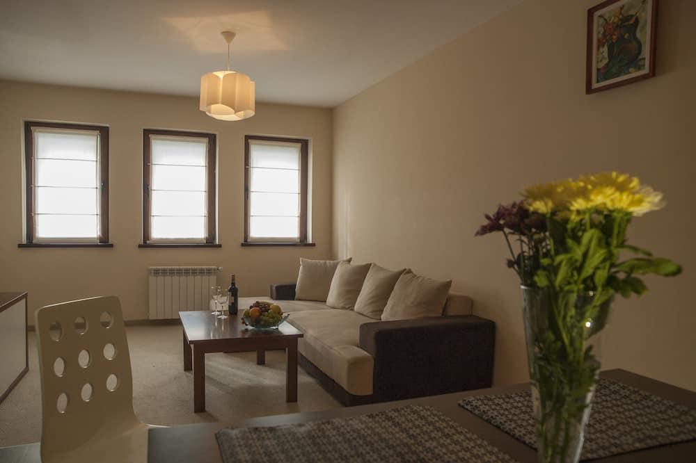 Apartamento, 1 Quarto, Lareira - Área de Estar