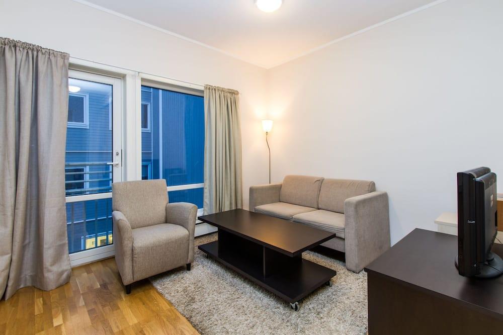 Modern studio apartment close to central Troms - Sala de Estar