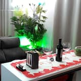 Căn hộ Deluxe, 1 phòng ngủ, Bếp, Cao tầng - Khu phòng khách