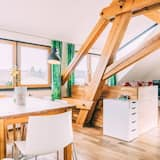 Suite, 2 slaapkamers, kitchenette, uitzicht op bergen - Woonruimte