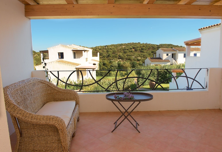 Li Casi Bianchi, San Teodoro, Departamento Deluxe, 2 habitaciones, vista al mar, Terraza o patio