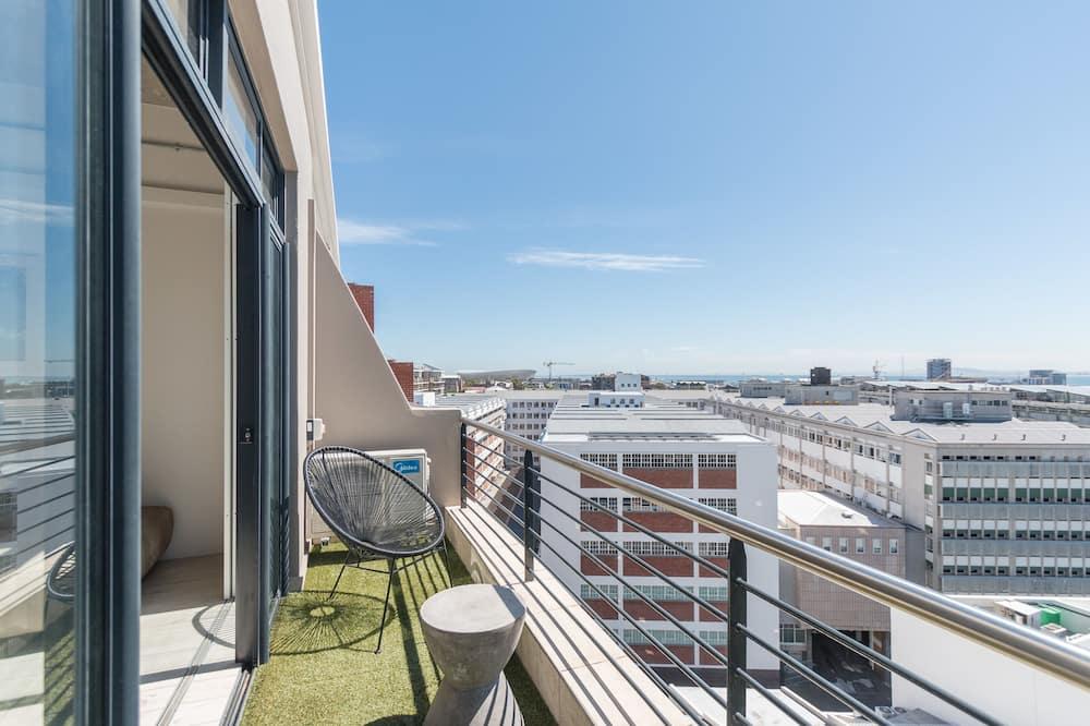 Standaard loft, 1 slaapkamer, uitzicht op haven, Aan zee - Balkon