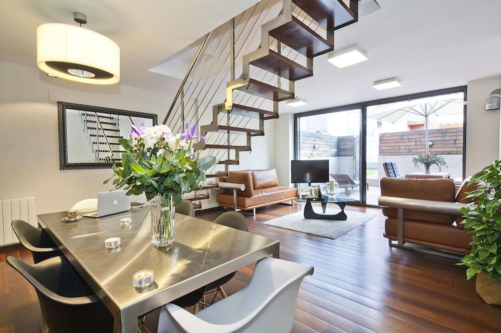 Comfort-Maisonette, 3Schlafzimmer, Terrasse, Erdgeschoss - Wohnbereich
