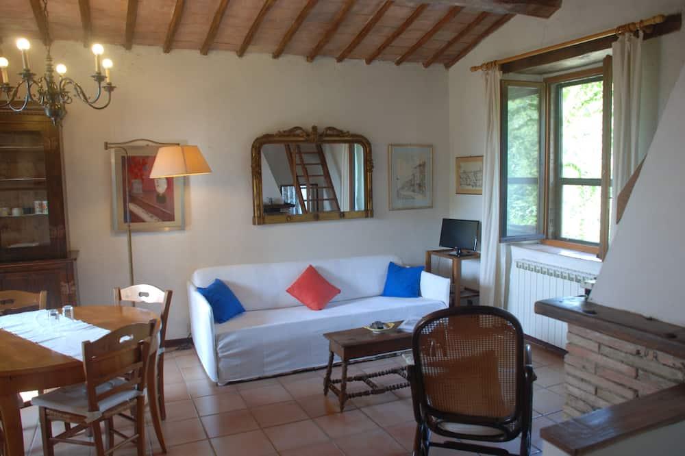 公寓, 3 間臥室, 壁爐, 花園景觀 - 客廳