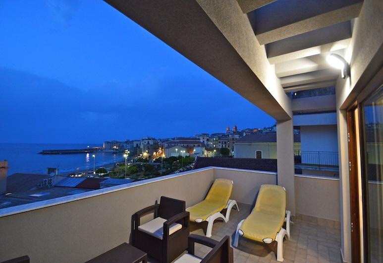Royal Sea House, Cefalù, Departamento, 1 habitación, terraza (Attic Floor), Terraza o patio