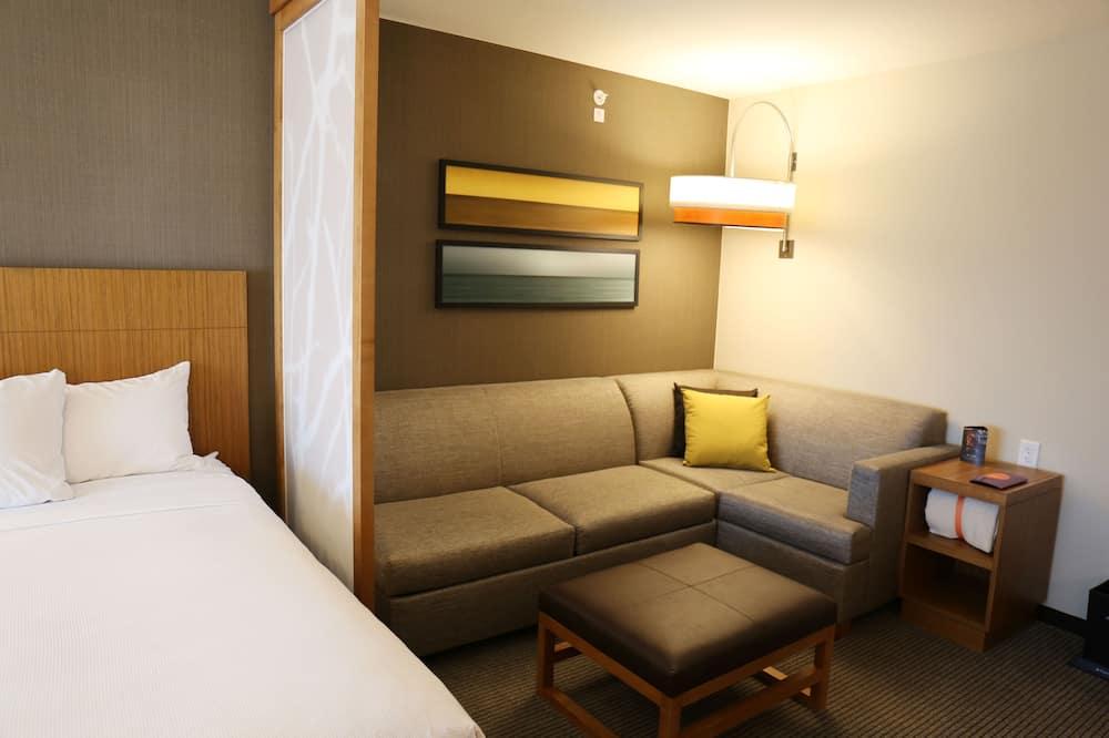 Kambarys, Kelios lovos, su patogumais neįgaliesiems (2 Queen and 1 Sofa Bed, With Shower) - Svetainės zona