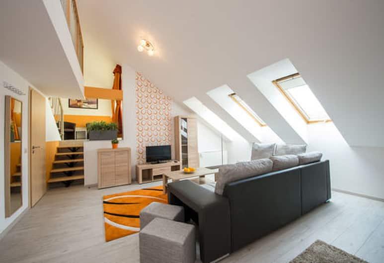 Budapest Center Residence, Budapeszt, Apartament, balkon, widok na miasto (Duplex), Pokój