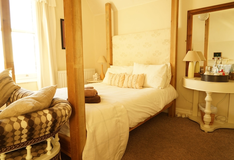 The Poplars, Lincoln, Dobbeltværelse med dobbeltseng eller 2 enkeltsenge - fælles badeværelse, Værelse