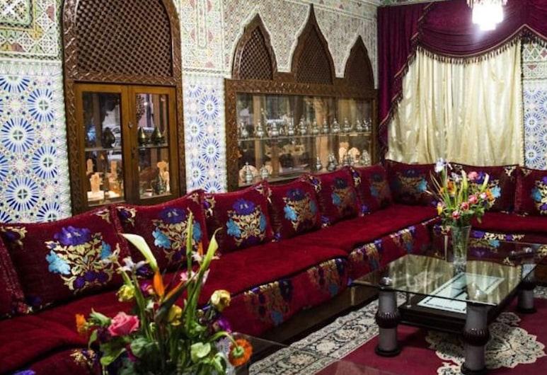 Hotel Tachfine, Marrakech, Salón en el lobby