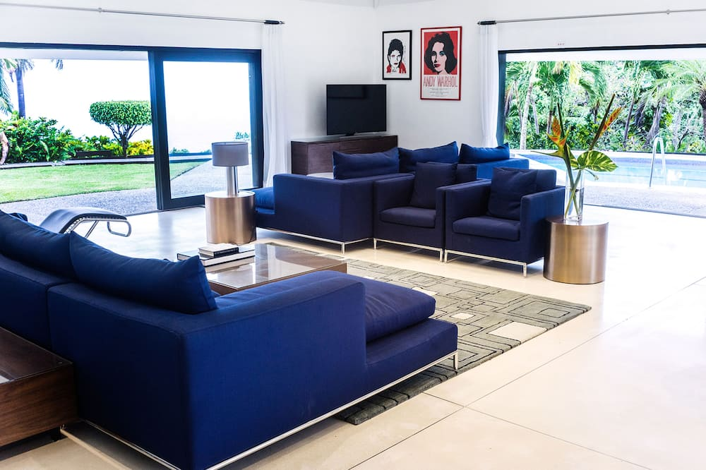 Villa Luxe, 4 chambres, piscine privée, vue océan - Salle de séjour
