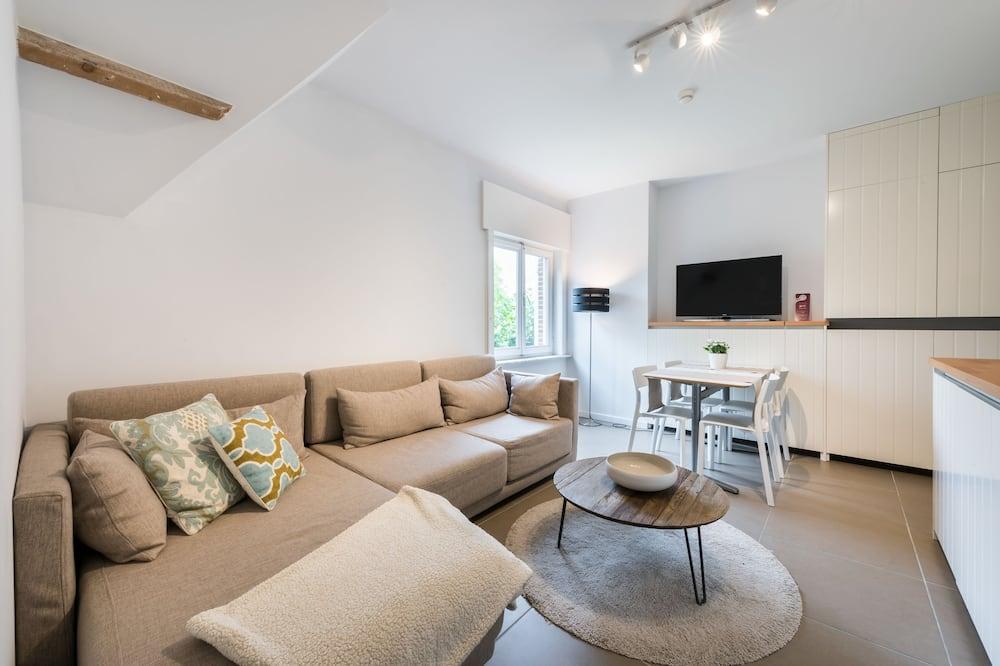 Studio Familial, 2 chambres, cuisine - Coin séjour