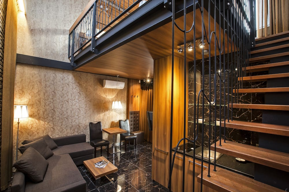 Apartamento Premium, Vista Cidade - Área de Estar
