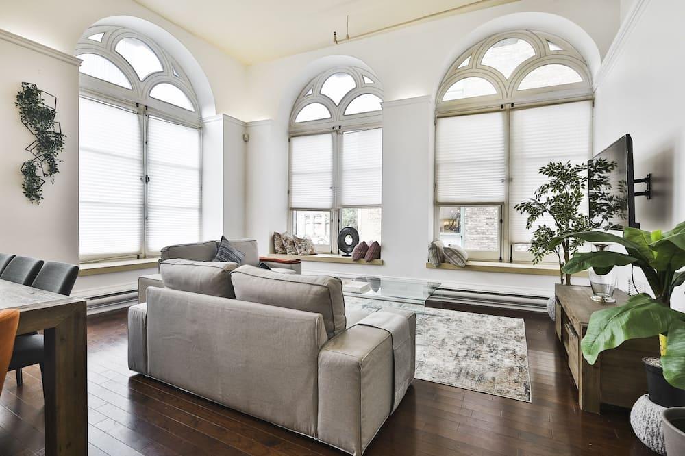 Apartament typu Panoramic, widok na ogród - Powierzchnia mieszkalna