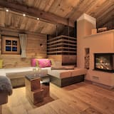 Chalet, 3 Bedrooms, Sauna (excl. cleaning fee 225.00 EUR) - Living Area