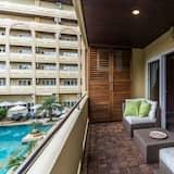 公寓客房, 1 間臥室, 泳池景 - 露台