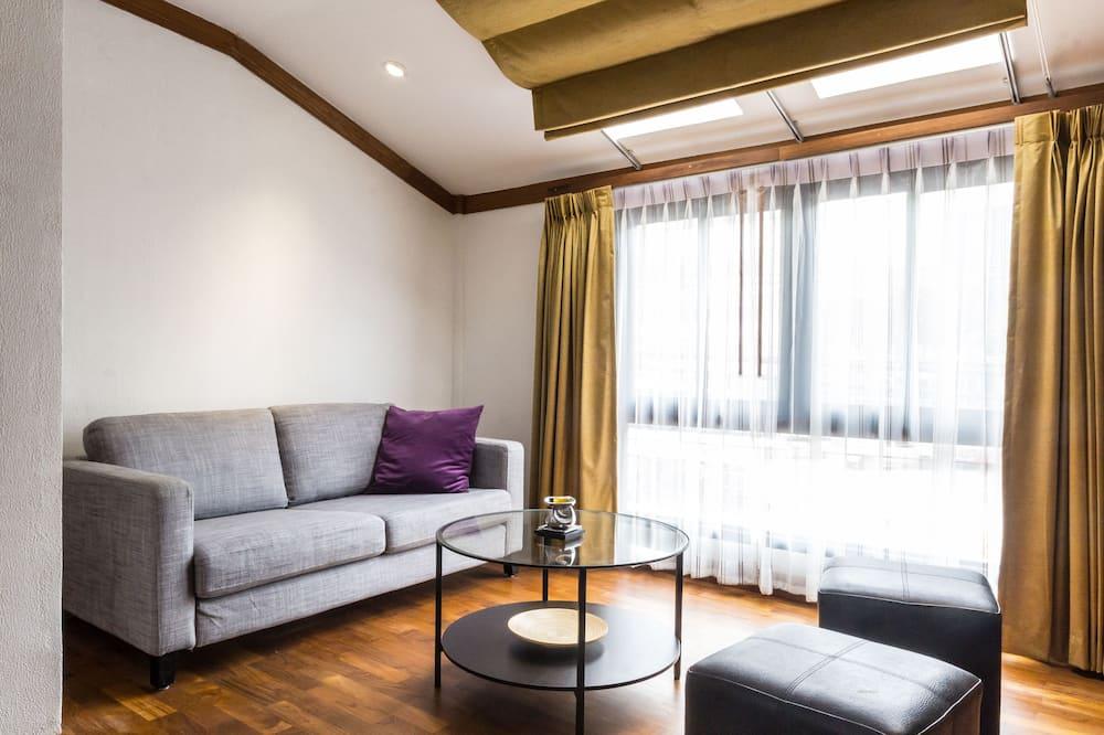 شقة - غرفة نوم واحدة - منظر للمدينة - منطقة المعيشة
