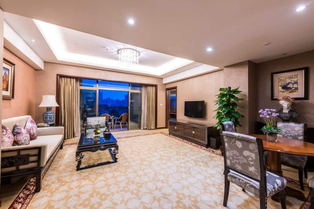 Paaugstināta komforta luksusa numurs, skats uz kalniem - Dzīvojamā istaba