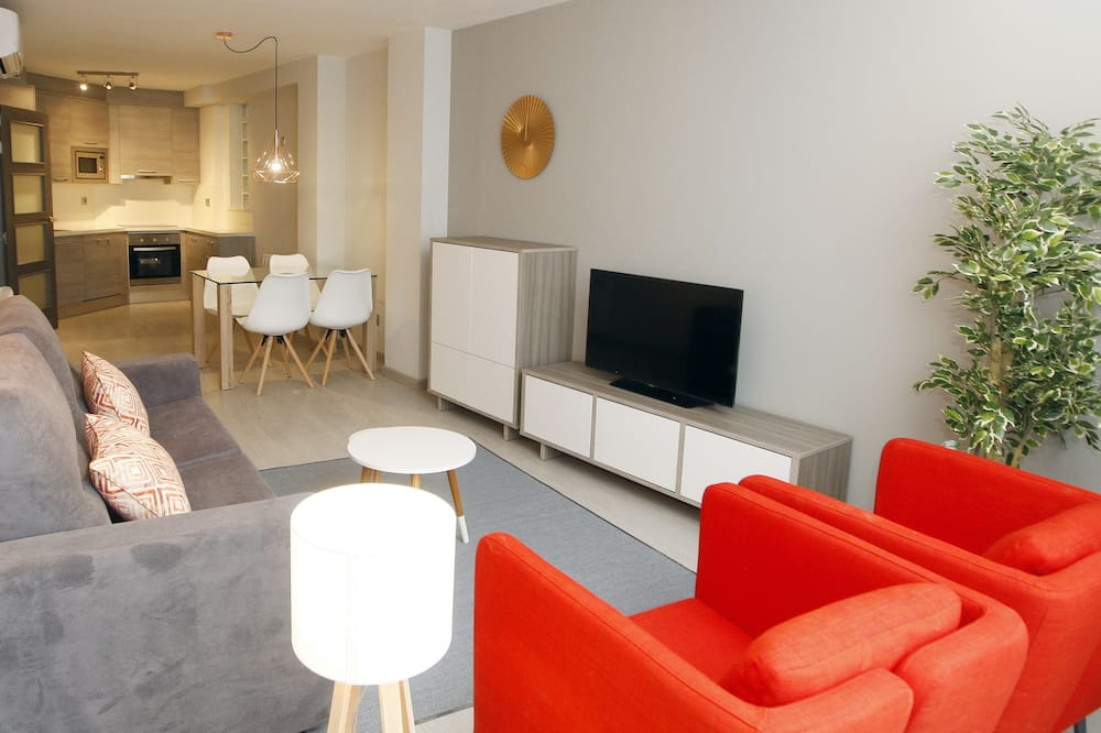Apartamentai, 1 miegamasis, terasa - Svetainės zona