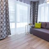 精緻開放式客房, 1 張加大雙人床及 1 張梳化床 - 客廳
