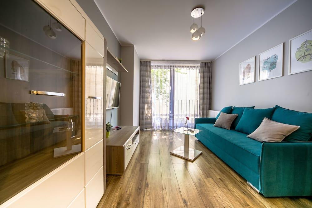 Dzīvokļnumurs, viena guļamistaba, balkons - Dzīvojamā istaba