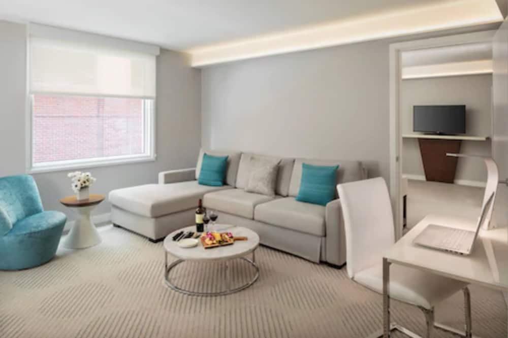 Luksusa numurs, viena guļamistaba, divas vannasistabas, skats uz pagalmu - Dzīvojamā zona