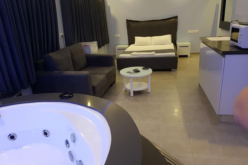 Apartmá typu Classic, 1 ložnice, výhled na moře - Obývací prostor