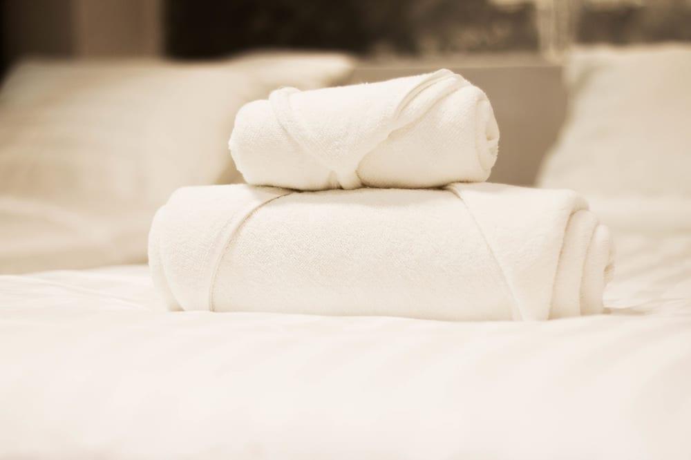 Basic tvåbäddsrum - 1 queensize-säng - eget badrum - Gästrum
