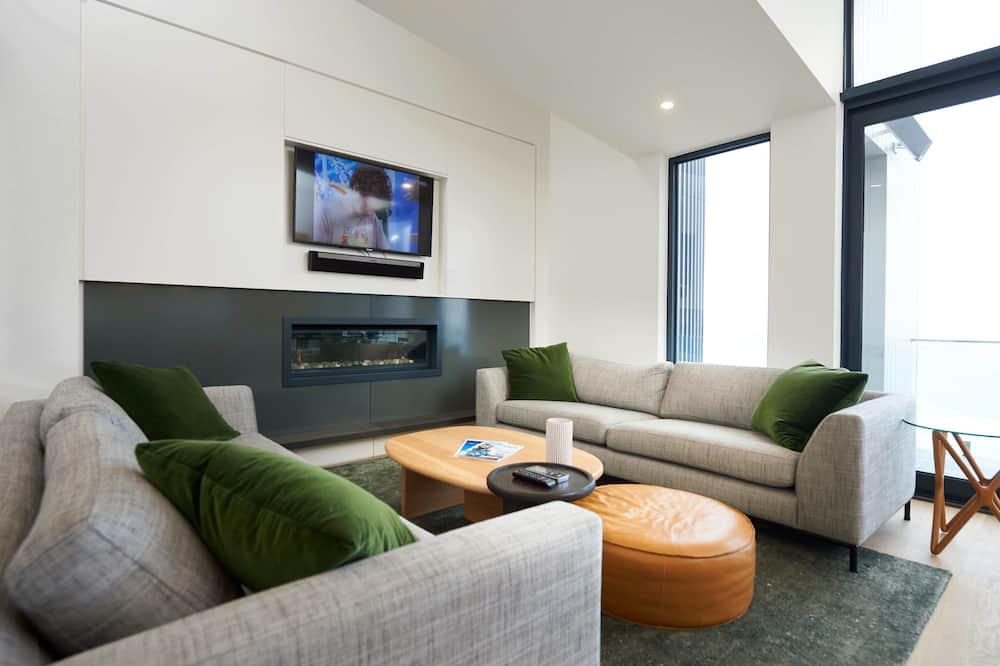 Luxury-Chalet, 3Schlafzimmer - Wohnzimmer
