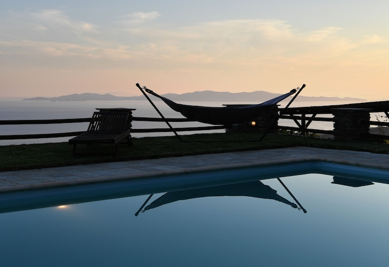Tinos Sky View Villa, Tinos, Udendørs pool