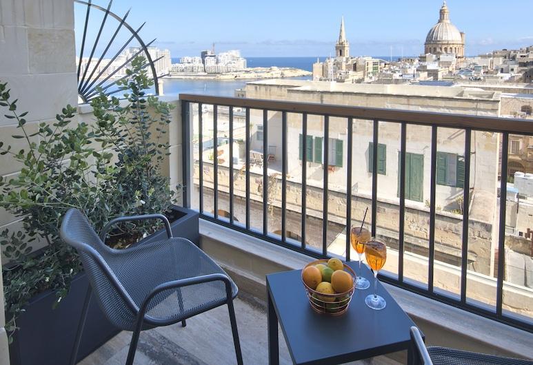 La Falconeria Hotel, Valletta, Quarto Duplo Deluxe, Pátio, Varanda