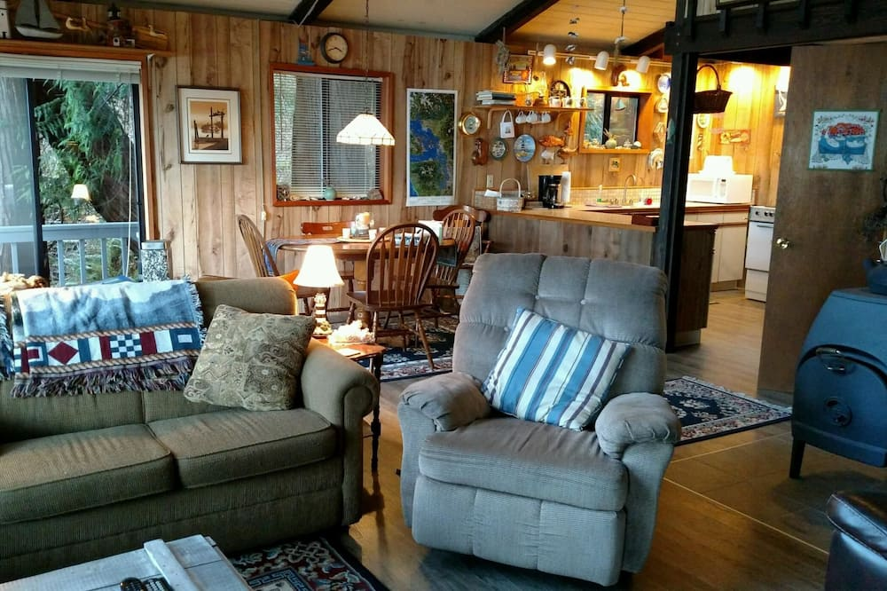 Casa, 1 cama king-size, Vista Mar (186 - 4 B's Coastal Cabin) - Área de Estar