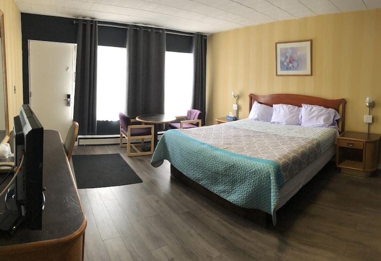 Advance Inn, Niagara Falls, Chambre Standard, 1 très grand lit, Restauration dans la chambre