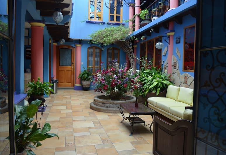 Hotel Posada Tepeyac, San Cristóbal de las Casas, Sitzecke in der Lobby