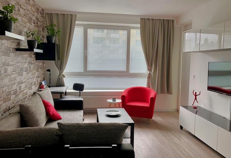 RS Apartments, Olomouc, Junior Apartment, Terrace (106), Living Room