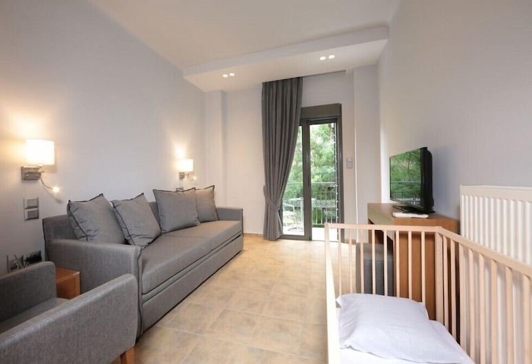 Meni Apartments Hotel, Atenas, Apartamento grand, 2 quartos, Área de estar