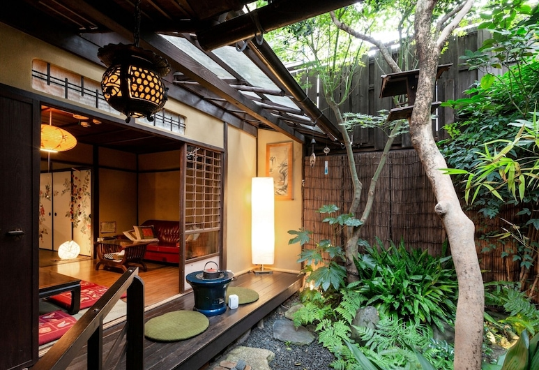 Guest house WARAKU-AN - Hostel, Kyoto, Αυλή