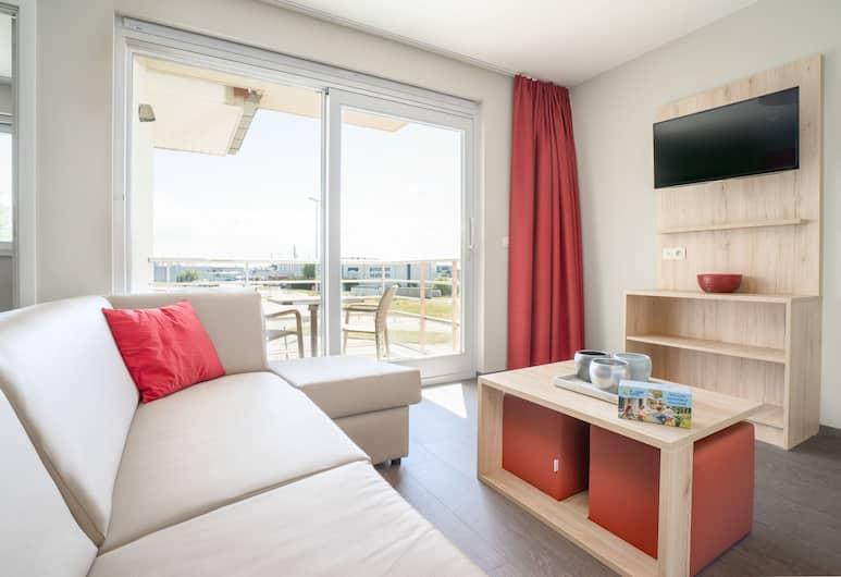 Holiday Suites Zeebrugge, Bruges, Standard apartman, 2 hálószobával (6 p), Nappali
