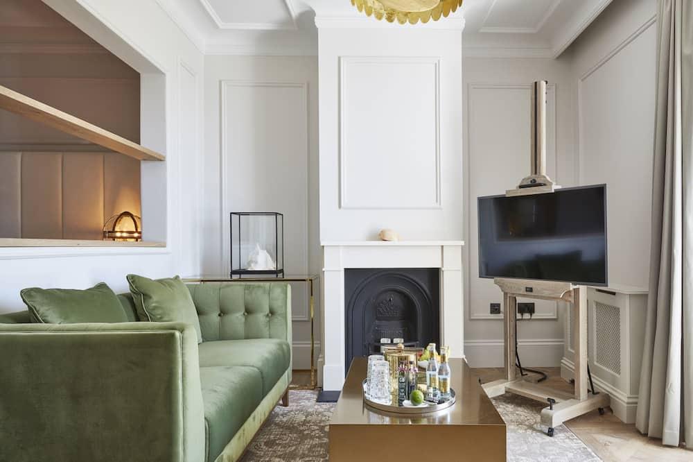Apartmán typu Grand, výhľad na rieku - Obývacie priestory