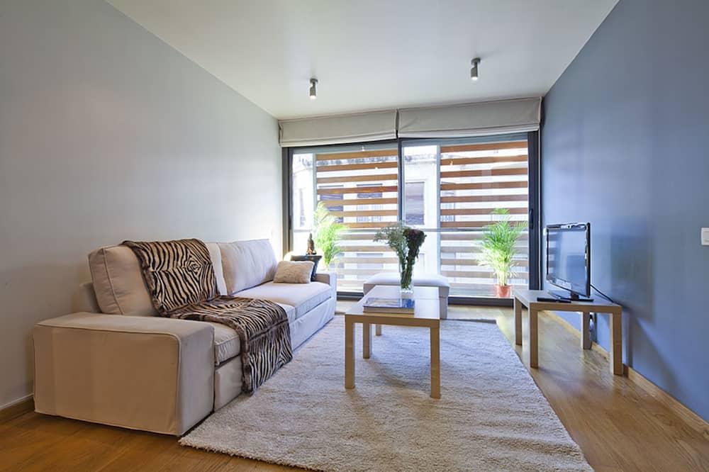 Familie maisonnette, 3 slaapkamers, terras, in toren - Woonkamer