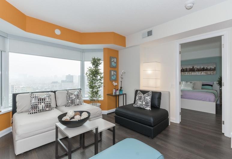 QuickStay - Yorkville's Finest (Yonge & Bloor), Toronto, Appartement, 2 slaapkamers, Woonkamer