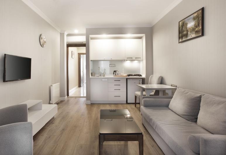 Allegra Suites Galata, Istanbul, Executive Apartment, 1 Bedroom, Living Area